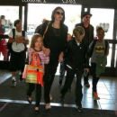 Brad Pitt and Angelina Jolie Departing Los Angeles With Their Kids (June 6, 2015)