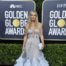 Molly Sims wears Marchesa Dress : 77th Annual Golden Globe Awards