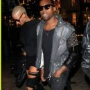 Amber Rose and Kanye West at a Movie Theater in Hollywood, California - December 22, 2009