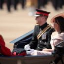 Prince Harry Windsor and Meghan Markle attend the 2018 Trooping the Colour ceremony - 454 x 303