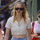 Sophie Turner – In shorts out with a friend in NYC