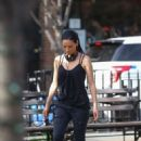 Lucy Liu heads to the set of 'Elementary' in West Village - 454 x 659