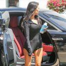 Kourtney Kardashian in Shorts Arrives at a Local Studio in LA - 454 x 680