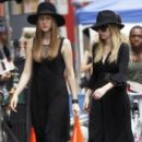 Stars on the set of 'American Horror Story' filming in New Orleans, Louisiana on July 31,