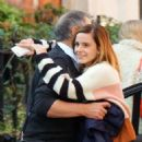 Emma Watson – Shares a sweet hug goodbye with her dad Chris in London