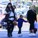 Blac Chyna, King Cairo, and Dream Kardashian at The Mall in Calabasas, California - January 14, 2017