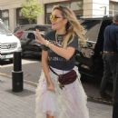 Rita Ora – Arrives at BBC Radio One Studios in London