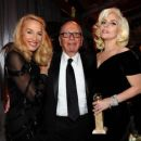 Still going strong! Jerry Hall, 59, hits the Golden Globes red carpet on the arm of 84-year-old Rupert Murdoch - three months after it was revealed they are dating - 11 Jan 2016 - 454 x 380