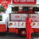 """Roselyn Sanchez handing out Good Humor treats to launch the Miami leg of the Good Humor multi-city """"Welcome to Joyhood"""" tour"""