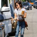 Lucy Hale at Starbucks for a Coffee in Studio City