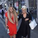 Bianca Gascoigne in Red Dress out in London - 454 x 680