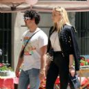 Sophie Turner and Joe Jonas – Out for some lunch in Barcelona - 454 x 487