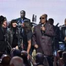 Peter Wolf, Karen O, John Legend, Dave Grohl and Stevie Wonder perform onstage during the 30th Annual Rock And Roll Hall Of Fame Induction Ceremony at Public Hall on April 18, 2015 in Cleveland, Ohio. - 454 x 302