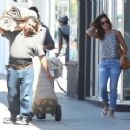 Minka Kelly spotted out shopping for rugs in Beverly Hills, California on August 4, 2015