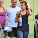 Lea Michele: Leaving the gym
