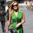 Amanda Holden in Green Mini Dress – Leaving Heart Radio in London - 454 x 687