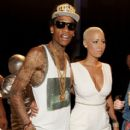 Amber Rose and Wiz Khalifa Attend the 28th Annual MTV Video Music Awards at the Nokia Theatre L.A. Live in Los Angeles, California -  August 28, 2011 - 412 x 594