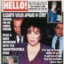 Elizabeth Taylor - Hello! Magazine Cover [United Kingdom] (15 December 1990)