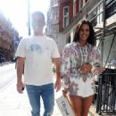 Danielle Lloyd and her husband Michael O'Neill – Seen at Sexy Fish in Mayfair - 454 x 665