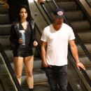 Eiza Gonzalez in Shorts with Josh Duhamel – Out in Hollywood - 454 x 681