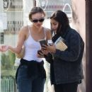 Lily-Rose Depp with Leila Bekhti – Pictured at Cafe Quartier General in Paris - 454 x 372