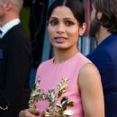 Freida Pinto – Arrives at Moschino Fashion Show in Milan - 454 x 682