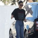 Kendall Jenner at a gas station in Los Angeles