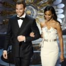 Chris Pine and Zoe Saldana - The 85th Annual Academy Awards - Show (2013)