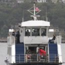 Director Clint Eastwood films scenes for the movie 'Sully' on the Hudson River in New York City, New York on September 29, 2015