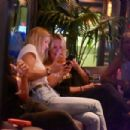 Bar Refaeli in Jeans at a friend's birthday at Kyoto in Herzliya - 454 x 303