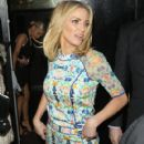 Sarah Harding: leaving the 'Ten - The Hits Tour' after party at Whisky Mist in London - 420 x 594