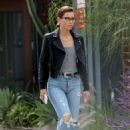 Jessica Biel in Ripped Jeans – Out in Los Angeles