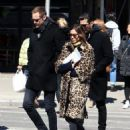 Alexa Chung & Alexander Skarsgard Out And About In NYC ( March 23, 2017) - 454 x 581