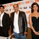 """Priyanka Chopra speak onstage at the """"What's Your Raashee?"""" press conference held at the Scotiabank Theatre on September 18, 2009 in Toronto, Canada"""
