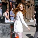 Rachelle Lefevre Outside Late Show With David Letterman In Nyc