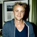 Tom Felton threw out the first pitch at the Chicago Cubs game yesterday, July 22, at Wrigley Field in Chicago. His pitch boosted the Cubs to a 4-2 over the Houston Astros