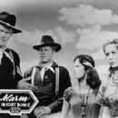 Chuck with John Smith, Lisa Montell & Susan Cummings 1957 - 454 x 355