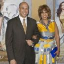 Gayle King and Cory Booker
