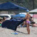 Ali Larter in Purple Bikini on Malibu Beach - 454 x 401