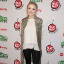 Emily Osment Abcs 25 Days Of Christmas Celebration In Ny