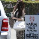 Selena Gomez stops for lunch at Kabuki with a friend on June 10, 2013 in Encino, California - 454 x 679