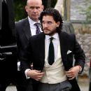 Kit Harington and Rose Leslie – Arriving at their wedding in Scotland - 454 x 645