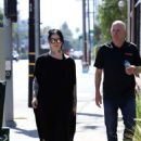 Kat Von D in Long Black Dress – Out and about in Los Angeles - 454 x 639