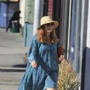 Amy Adams – In blue dress while out in Beverly Hills