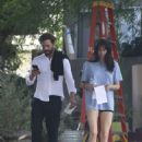 Shailene Woodley and Jamie Dornan – On the set of the new movie in LA