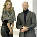 Jason Statham can't resist a cheeky grab of Rosie Huntington-Whiteley's leather-clad posterior as couple pack on the PDA after dinner date