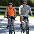 Lea Michele – Bike Riding in The Hamptons - 454 x 546