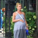 Claire Danes in Long Dress – Out in New York City