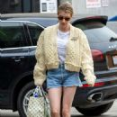 Emma Roberts in Denim Shorts – Out in Los Angeles