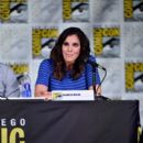 "Actress Daniela Ruah attends CBS Television Studios Block including ""Scorpion,"" ""American Gothic"" and ""MacGyver"" during Comic-Con International 2016 at San Diego Convention Center on July 21, 2016 in San Diego, California"